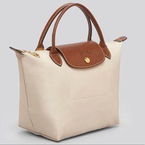 Longchamp mini tote natural